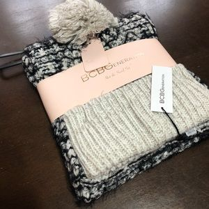 NWT BCBG set  of scarf and hat